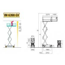 Ножничный подъемник IMER IM 6390 EX